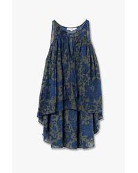 Derek Lam - Blue Tie Detail Floral Shirt - Lyst