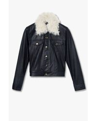 Derek Lam - Blue Leather Jacket - Lyst