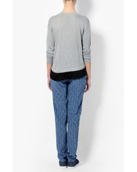 Derek Lam - Gray Asymmetrical Fringe Sweater - Lyst
