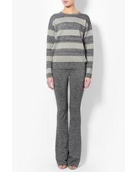Derek Lam - Gray Striped Lurex Sweater - Lyst
