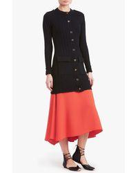 Derek Lam - Orange Long Zip Front Skirt - Lyst