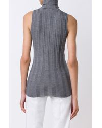 Derek Lam - Gray Sleeveless Turtleneck - Lyst
