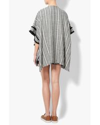 Derek Lam - Gray Horn Toggle Poncho - Lyst
