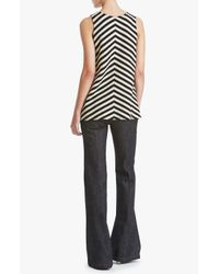 Derek Lam - Black Draped Tank - Lyst