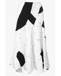 Derek Lam - Black Patchwork Midi Skirt - Lyst