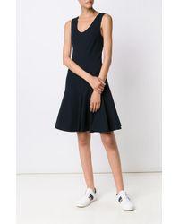 Derek Lam   Blue S/l Godet Mini Dress   Lyst