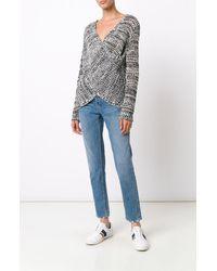 Derek Lam   Black Cross Front Sweater   Lyst