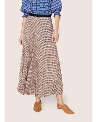 Derek Lam - Pink Pleated Midi Skirt - Lyst