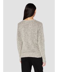 Derek Lam - Natural Long Sleeve Crossover Sweater With Ribbed Hem Detail - Lyst