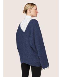 Derek Lam | Blue Asymmetrical Sweater | Lyst