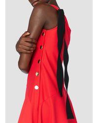 Derek Lam - Red One Shoulder Midi Dress - Lyst