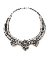 Valentino | Metallic Flowers Crystal Necklace | Lyst
