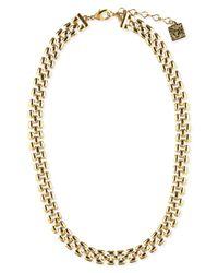 Anne Klein | Metallic Gold-tone Thin Collar Necklace | Lyst