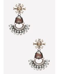Bebe | Metallic Flower Drop Earrings | Lyst