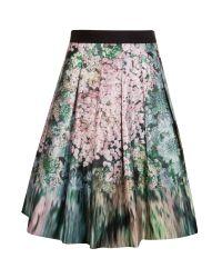 Ted Baker | Black Camouflage Sequin Skirt | Lyst