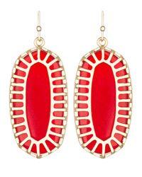 Kendra Scott - Red Dayla Oblong Earrings with Box - Lyst