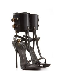 Giuseppe Zanotti | Black Leather Wing Sandals | Lyst