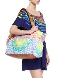 Mara Hoffman - Multicolor Printed Canvas/leather Weekend Bag - Lyst