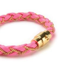 Juicy Couture | Pink Braided Wrap Bracelet | Lyst