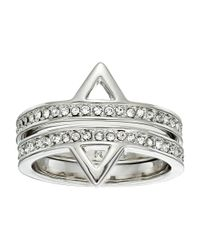 Rebecca Minkoff | Metallic Two Piece Stack Triangle Ring | Lyst