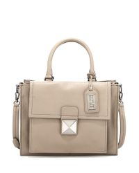 Badgley Mischka - Gray Finnie Soft Pebble Leather Satchel - Lyst