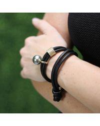 Mizuki - Black Pearl And Diamond Slider Wrap Bracelet/choker - Lyst