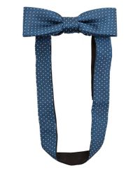 Simon Carter - Blue Teal Pin Dot Silk Bow Tie for Men - Lyst