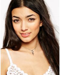 ASOS - Metallic Charm Cluster Choker Necklace - Lyst