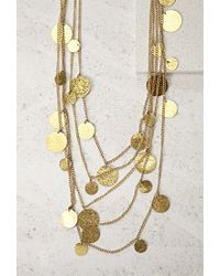 Forever 21 - Metallic Soko Layered Coin Necklace - Lyst