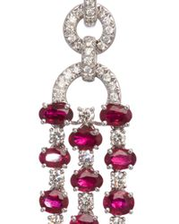 Sidney Garber | Red Ruby Trellis Earrings | Lyst