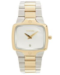 Nixon | Metallic Player Two Tone Watch | Lyst