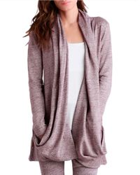 UGG | Purple Draped Open-front Cardigan | Lyst