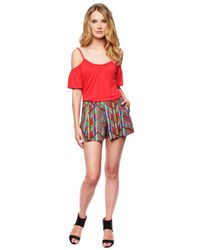 Ella Moss | Multicolor Mazatlan Pleated Short | Lyst