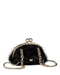 Boutique Moschino - Black Clutch Shaped Backpack - Lyst