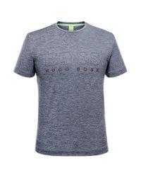 BOSS Green - Blue 'tianotech' | Logo T-shirt for Men - Lyst