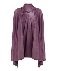 JOSEPH - Purple Cashair Long Open Cardigan - Lyst