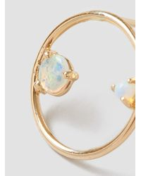 Wwake - Metallic Opal Circle Earrings - Lyst