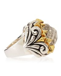 Stephen Webster | Metallic Superstud Baroque Mother-of-pearl Crystal Haze Ring | Lyst
