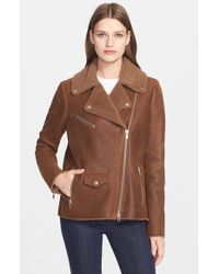 VEDA | Natural 'Rock' Genuine Shearling Jacket | Lyst
