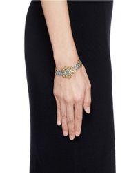 Ela Stone - Metallic 'Blake' Cluster Stud Chain Link Bracelet - Lyst