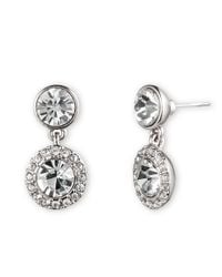 Givenchy | Metallic Crystal Pave Drop Earrings | Lyst