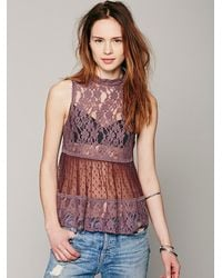 8400c19333c311 Free People Lady Bird Lace Tank in Pink - Lyst