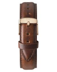 Daniel Wellington - Brown 'classic St. Mawes' 20mm Leather Watch Strap - Lyst