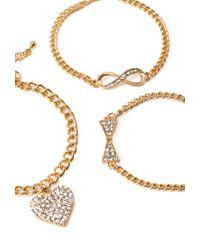 Forever 21 - Metallic Infinity Bracelet Set - Lyst