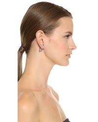 Vita Fede - Metallic Double Titan Earrings - Silver/clear - Lyst