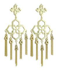 Kendra Scott | Metallic Lara 14K Chandelier Tassel Earrings | Lyst