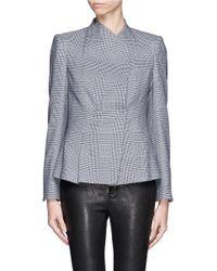 Armani - Gray Houndstooth Plaid Jacket - Lyst