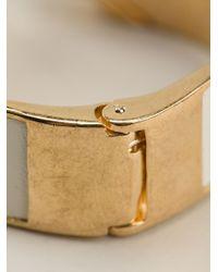Alexander McQueen - Metallic Double Skull Bracelet - Lyst