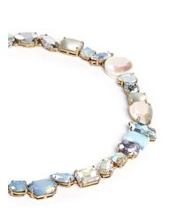 J.Crew | Blue Mixed Stone Necklace | Lyst