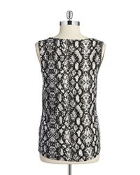Calvin Klein | Black Scoop-neck Tank Top | Lyst
